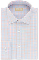 Michael Kors Men's Classic/Regular Fit Non-Iron Blue Check Cotton Dress Shirt