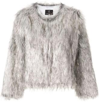 Unreal Fur Metallic Textured Jacket