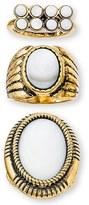 Steve Madden Women's Set Of 3 Rings