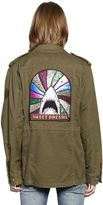 Saint Laurent Cotton Linen Field Jacket W/Shark Patch