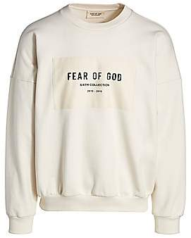 Fear Of God Men's Logo Patch Crewneck Sweatshirt
