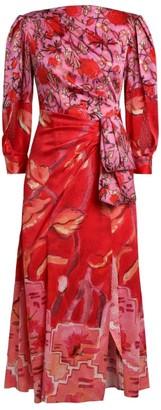 Peter Pilotto Printed Silk Drape Dress
