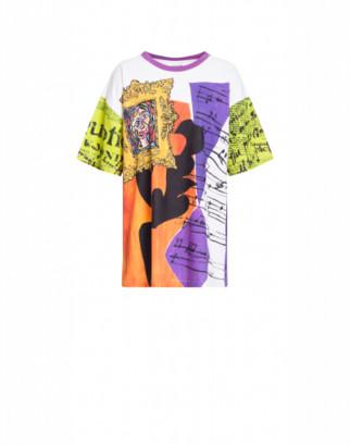 Moschino Jersey T-shirt Art Print Woman Multicoloured Size L It