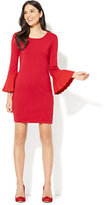 New York & Co. Pleated-Sleeve Sweater Dress