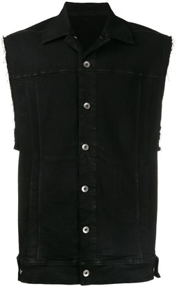 Rick Owens sleeveless denim jacket
