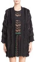 Missoni Women's Fringe Trim Metallic Knit Cardigan