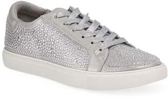 Kenneth Cole New York Women's Sneakers SILVER - Silver Rhinestone Kam Shine Sneaker - Women