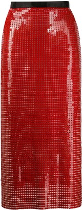 Christopher Kane Chain-Mail Midi Skirt