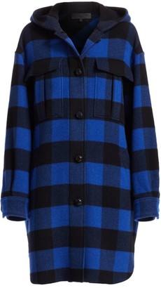 Rag & Bone Beck Buffalo Check Hooded Coat