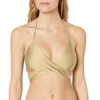 Luli Fama Women's Cosita Buena Reversible Cross Over Halter Bikini Top