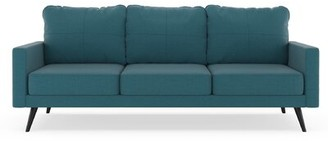Labonte Sofa Latitude Run Fabric: Aegean Blue, Leg Color: Black