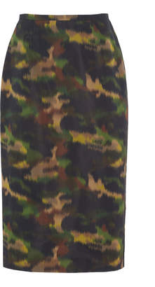 Rochas Broken Camouflage Pencil Skirt Size: 40