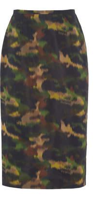 Rochas Broken Camouflage Pencil Skirt