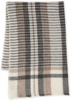 Portolano Plaid Merino Wool Scarf
