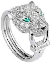 Cartier White Gold and Diamond Panthère de Ring