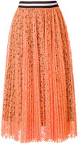 MSGM lace pleated skirt
