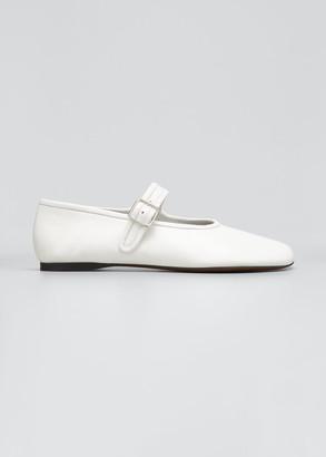 Proenza Schouler Boyd Mary Jane Ballerina Flats, White