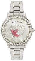 Betsey Johnson Shaky Crystal Heart Watch