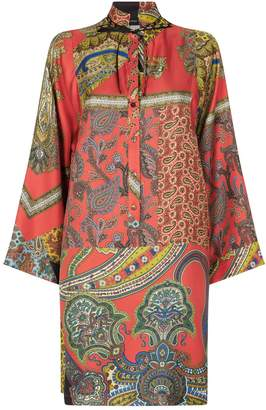 Etro Tile Print Shirt Dress