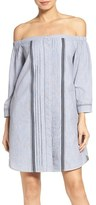 Greylin Women's Off The Shoulder Shirtdress