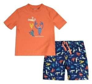 Tommy Bahama Little Boy's Sea Creature 2-Piece Rashguard & Trunks Set