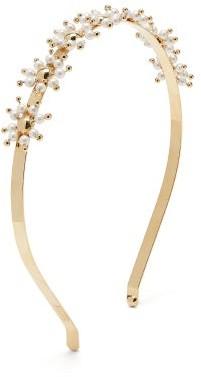 Rosantica Daisy Faux-pearl Embellished Headband - Womens - Gold Multi