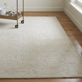 Crate & Barrel Presley Neutral Wool Rug