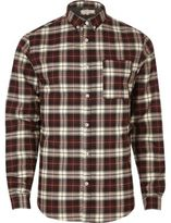 River Island Mens Red check casual shirt