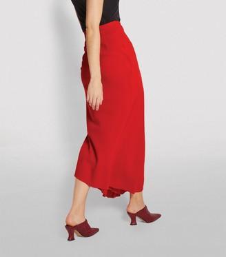 A.W.A.K.E. Mode Asymmetric Semi-Pleated Maxi Skirt