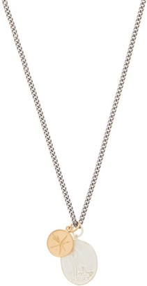 Miansai Wolf Rhodium-plated Sterling-silver Necklace - Black Silver