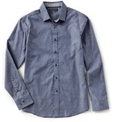Vince Camuto Slim-Fit Stripe Long-Sleeve Woven Shirt