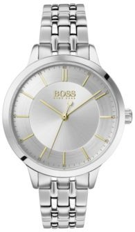 BOSS Stainless-steel watch with two-tier dial and link bracelet