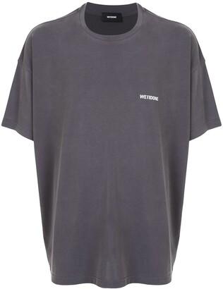 we11done crew neck logo T-shirt