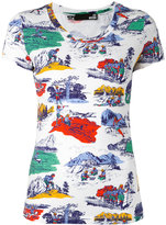 Love Moschino camping print T-shirt - women - Cotton/Spandex/Elastane - 42