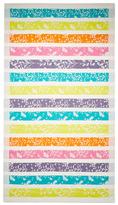 Belle Epoque Floral Striped Beach Towel