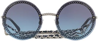 Chanel Round Frame Chain Sunglasses
