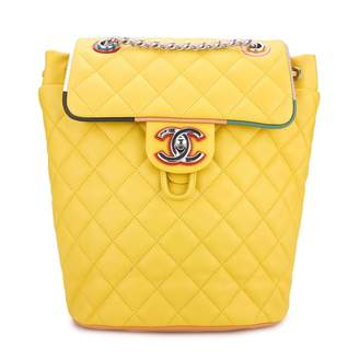 Chanel Timeless/Classique Yellow Leather Backpacks