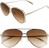 Alexander McQueen 62mm Aviator Gradient Sunglasses