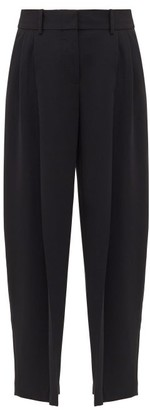 See by Chloe High-rise Cropped Crepe Trousers - Black