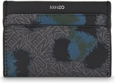 Leopard Flying Kenzo Leather Card Holder