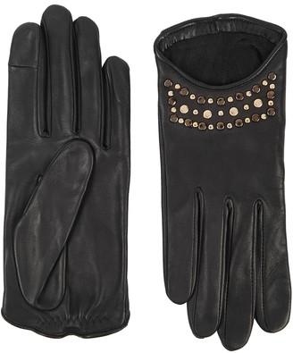 Agnelle Keren Studded Leather Gloves