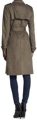 philosophy Belted Faux Suede Trench Coat