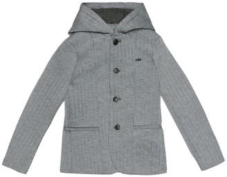 Emporio Armani Kids Herringbone jersey jacket