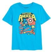 JEM Toddler Boy's Captain America - Stars & Stripes Graphic T-Shirt