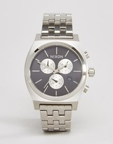 Nixon Time Teller Chronograph Watch In Stainless Steel