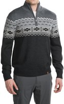 Neve Lars Ski Sweater - Zip Neck, Merino Wool (For Men)