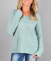 Aqua Lattice Back Sweater