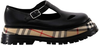 Burberry T-Bar Platform Shoes