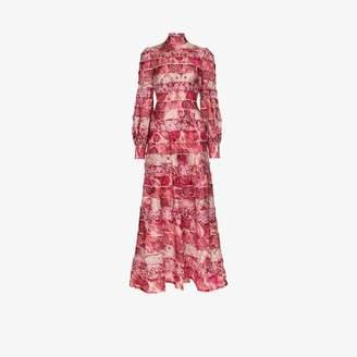 Zimmermann Womens Pink Ikat Print Maxi Dress