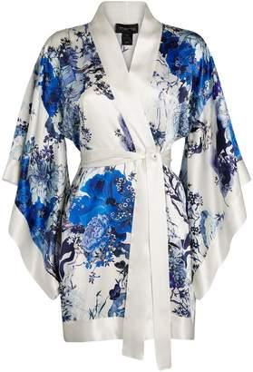 Meng Floral Silk Short Kimono